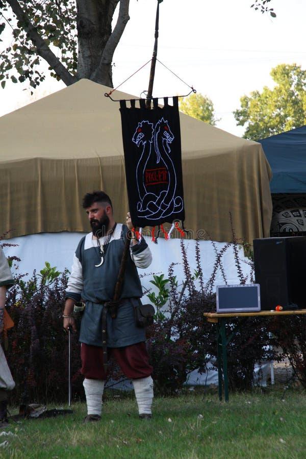 Ragnarok - irmãos de Viking - os 28-30 de setembro de 2018 - ` Adda de Casirate d - BG - Itália fotos de stock royalty free