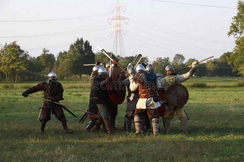 Ragnarok - irmãos de Viking - os 28-30 de setembro de 2018 - ` Adda de Casirate d - BG - Itália imagens de stock royalty free
