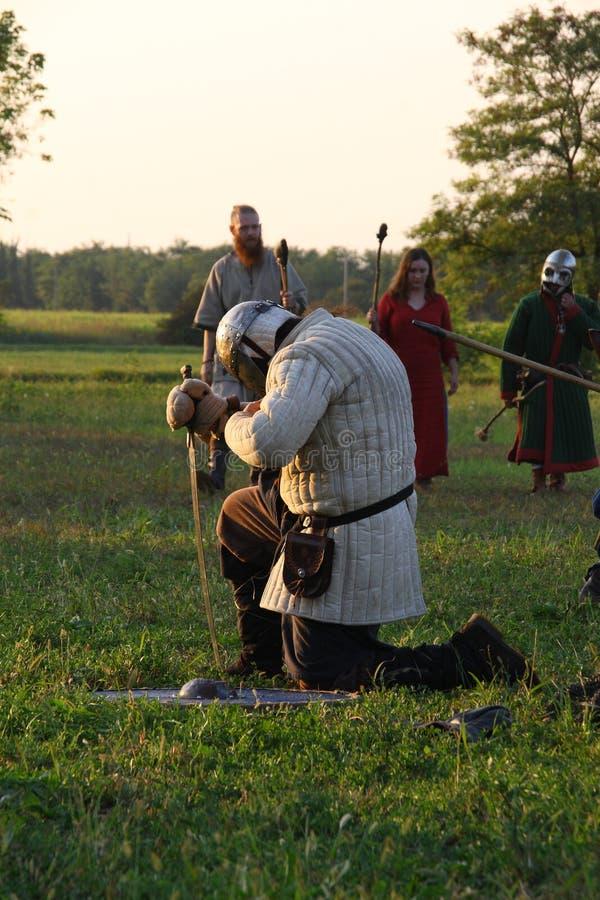 Ragnarok - irmãos de Viking - os 28-30 de setembro de 2018 - ` Adda de Casirate d - BG - Itália fotografia de stock royalty free
