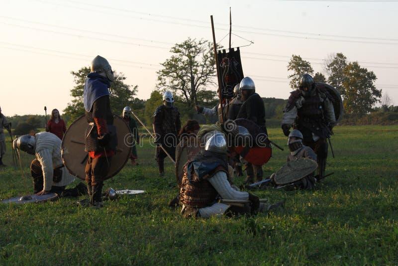 Ragnarok - irmãos de Viking - os 28-30 de setembro de 2018 - ` Adda de Casirate d - BG - Itália imagens de stock