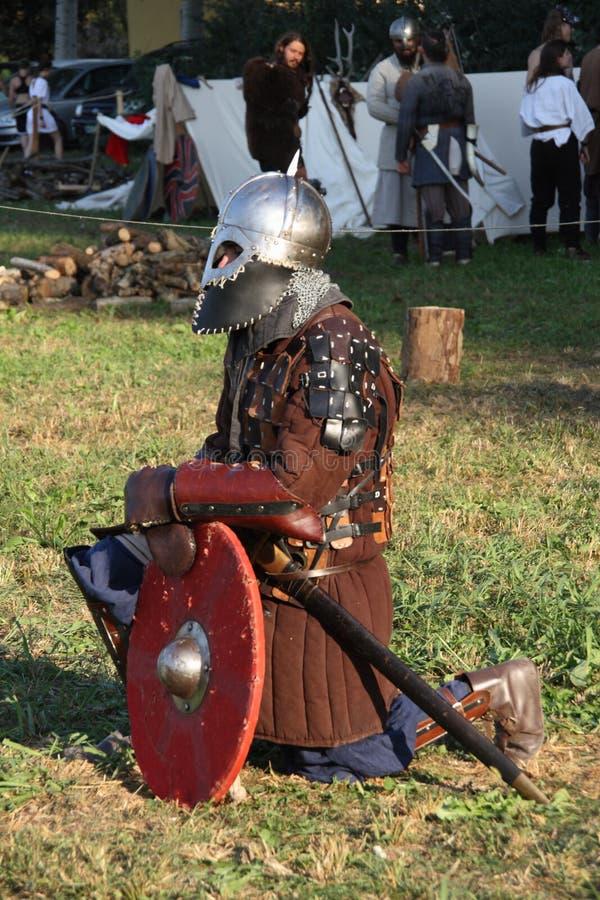 Ragnarok - irmãos de Viking - os 28-30 de setembro de 2018 - ` Adda de Casirate d - BG - Itália imagem de stock royalty free