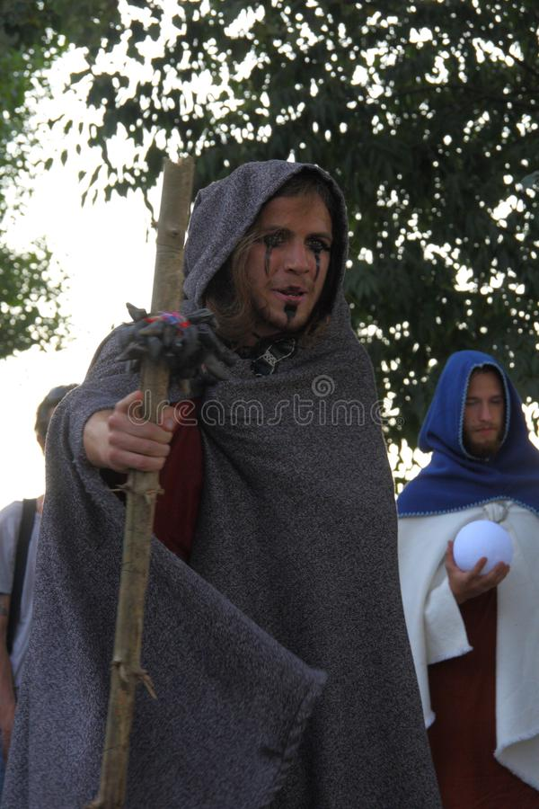 Ragnarok - irmãos de Viking - os 28-30 de setembro de 2018 - ` Adda de Casirate d - BG - Itália imagem de stock