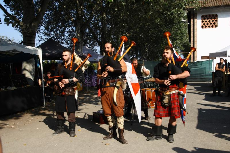 Ragnarok - les frères de Viking - 28-30 septembre 2018 - ` Adda de Casirate d - la BG - Italie photographie stock
