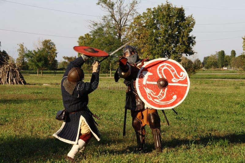 Ragnarok - les frères de Viking - 28-30 septembre 2018 - ` Adda de Casirate d - la BG - Italie photographie stock libre de droits