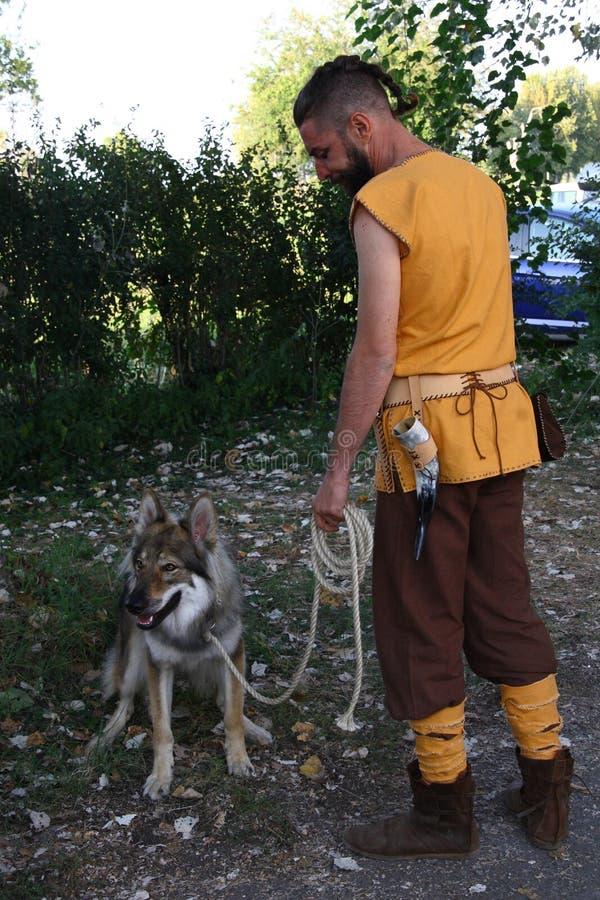 Ragnarok - los hermanos de Viking - 28-30 de septiembre de 2018 - ` Adda de Casirate d - BG - Italia foto de archivo libre de regalías