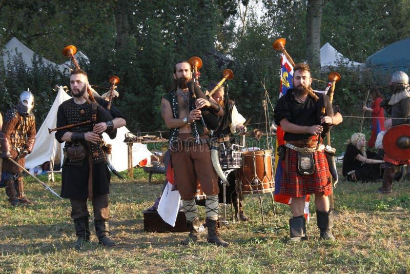 Ragnarok - los hermanos de Viking - 28-30 de septiembre de 2018 - ` Adda de Casirate d - BG - Italia imagenes de archivo
