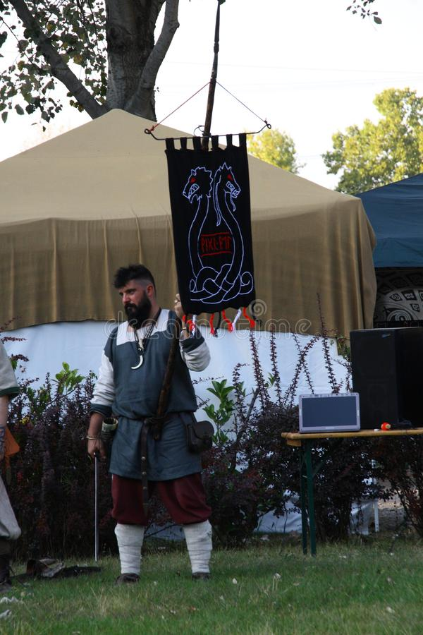 Ragnarok - the Viking brothers - 28-30 September 2018 - Casirate d`Adda - BG - Italy. The Ragnarok organized by the Viking brothers took place on 28th, 29th and royalty free stock photos