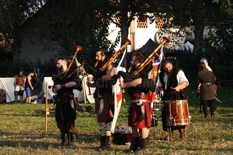 Ragnarok - the Viking brothers - 28-30 September 2018 - Casirate d`Adda - BG - Italy. The Ragnarok organized by the Viking brothers took place on 28th, 29th and royalty free stock image