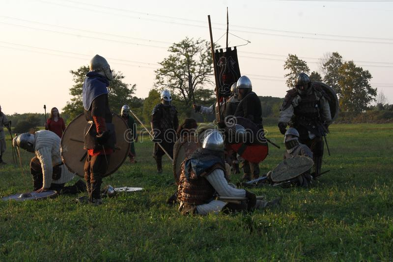 Ragnarok - the Viking brothers - 28-30 September 2018 - Casirate d`Adda - BG - Italy. The Ragnarok organized by the Viking brothers took place on 28th, 29th and stock images