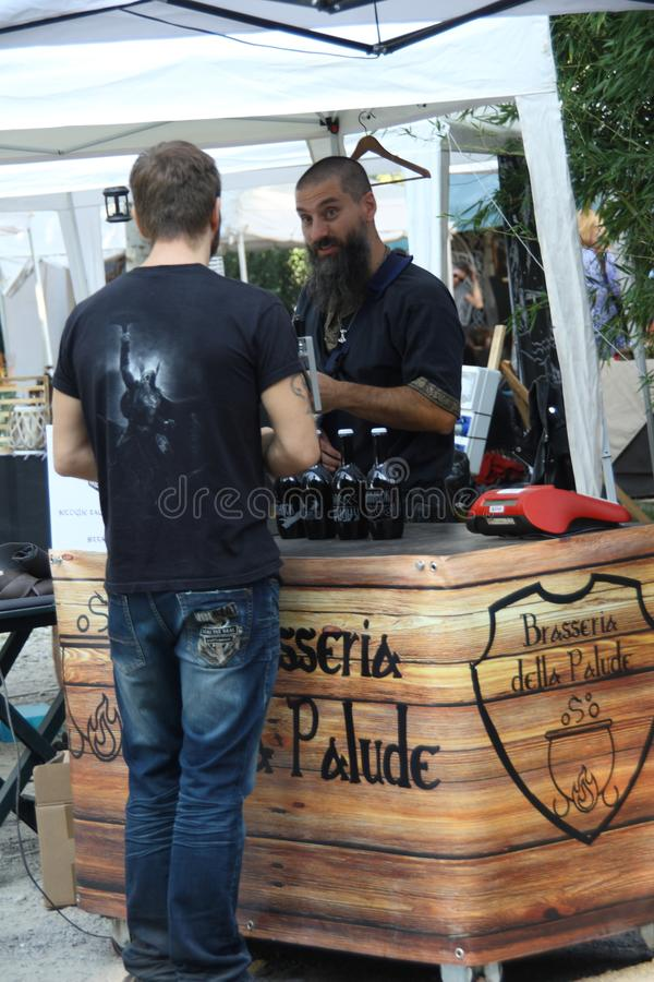 Ragnarok - the Viking brothers - 28-30 September 2018 - Casirate d`Adda - BG - Italy. The Ragnarok organized by the Viking brothers took place on 28th, 29th and royalty free stock photo