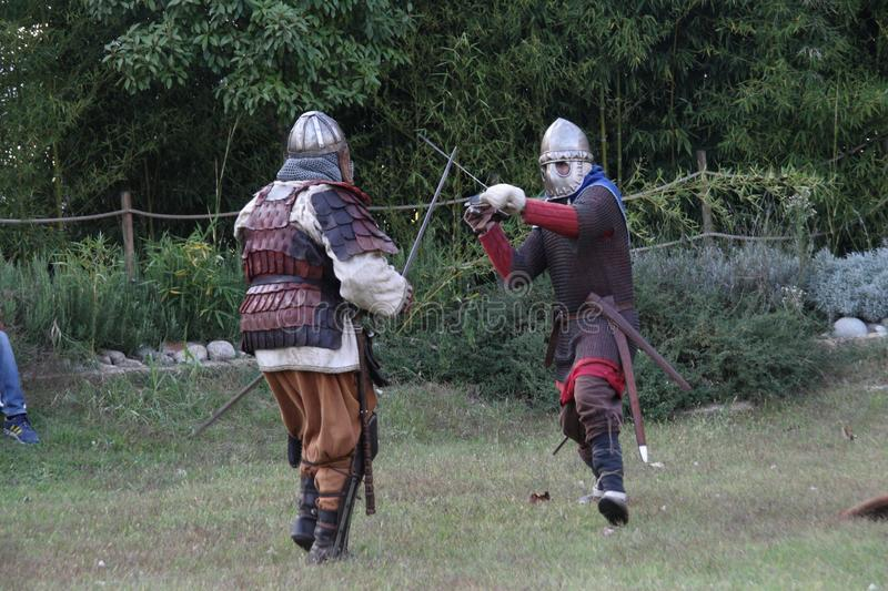 Ragnarok - the Viking brothers - 28-30 September 2018 - Casirate d`Adda - BG - Italy. The Ragnarok organized by the Viking brothers took place on 28th, 29th and stock photography