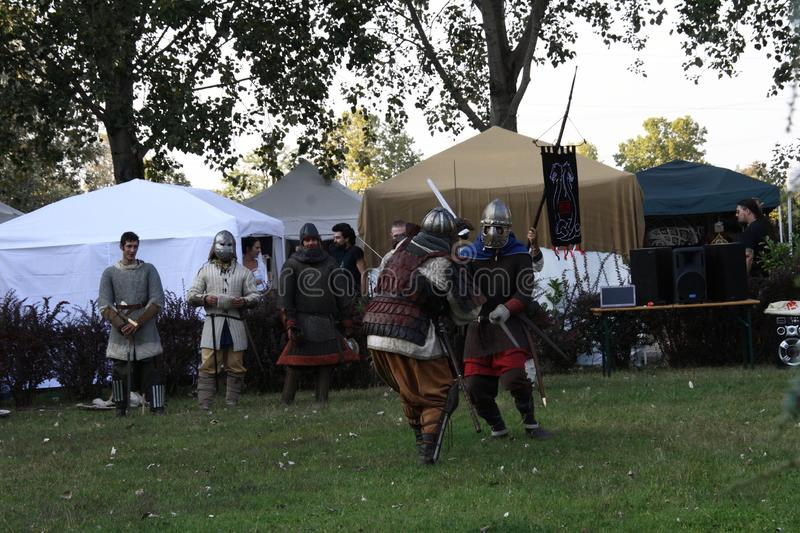 Ragnarok - the Viking brothers - 28-30 September 2018 - Casirate d`Adda - BG - Italy. The Ragnarok organized by the Viking brothers took place on 28th, 29th and stock image