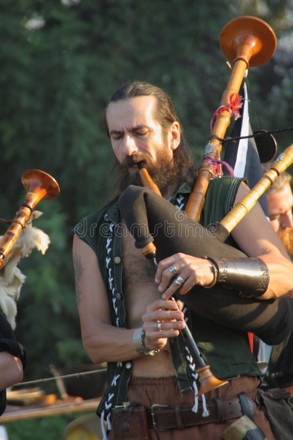 Ragnarok - the Viking brothers - 28-30 September 2018 - Casirate d`Adda - BG - Italy. The Ragnarok organized by the Viking brothers took place on 28th, 29th and royalty free stock photography