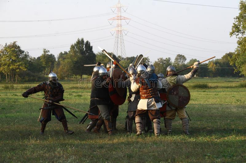 Ragnarok - the Viking brothers - 28-30 September 2018 - Casirate d`Adda - BG - Italy. The Ragnarok organized by the Viking brothers took place on 28th, 29th and royalty free stock images
