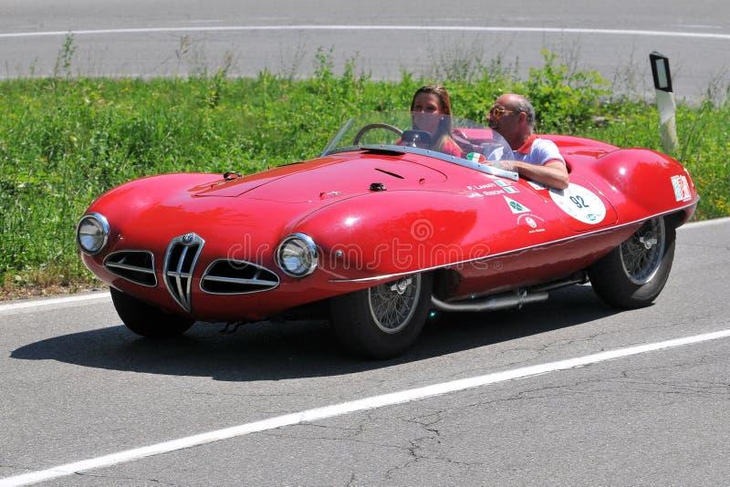 Ragno 1954 di Alfa Romeo - bandierina d'argento 2011 di Vernasca immagini stock