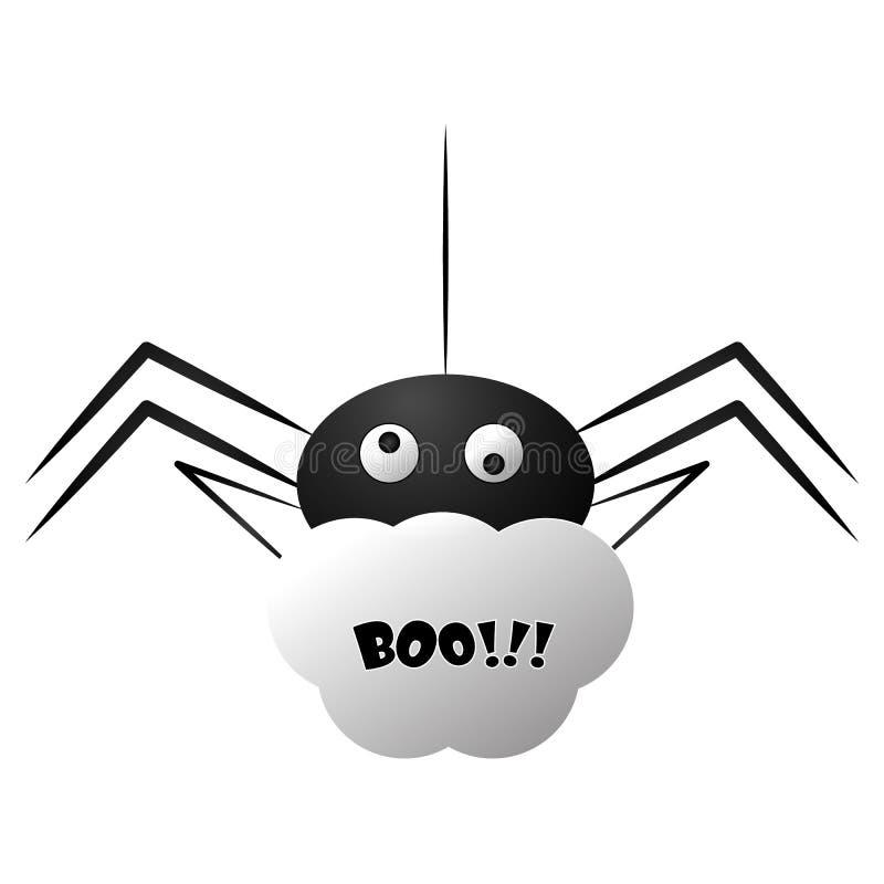 Ragno allegro isolato illustrazione di stock