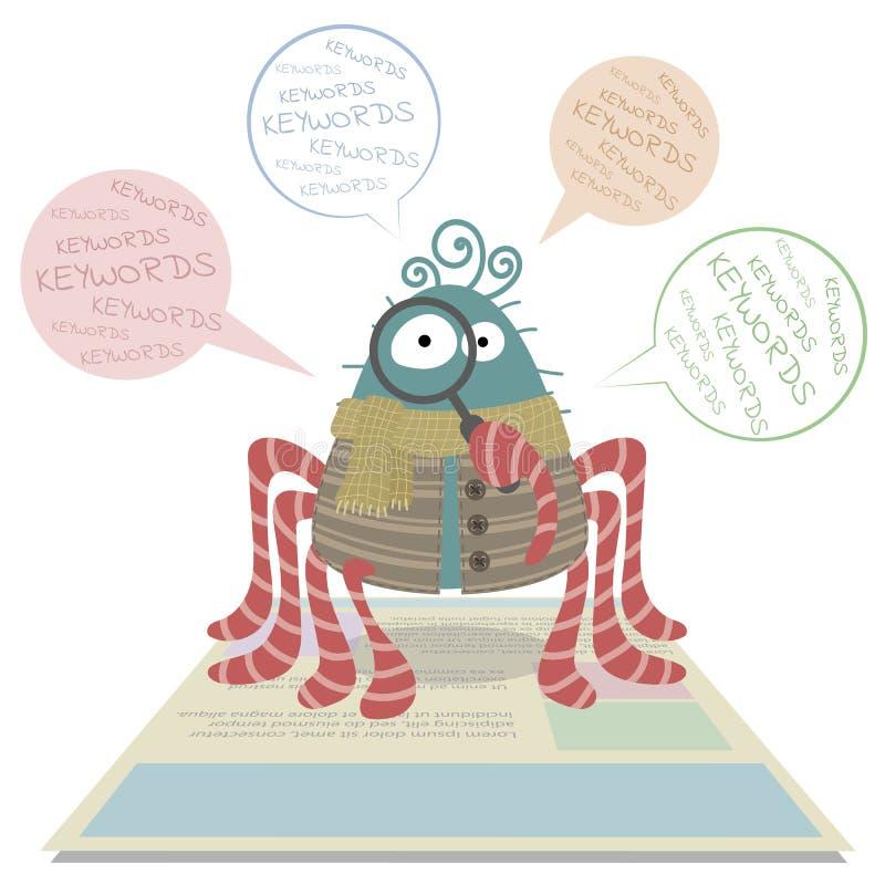 Ragno del cingolo di web illustrazione di stock