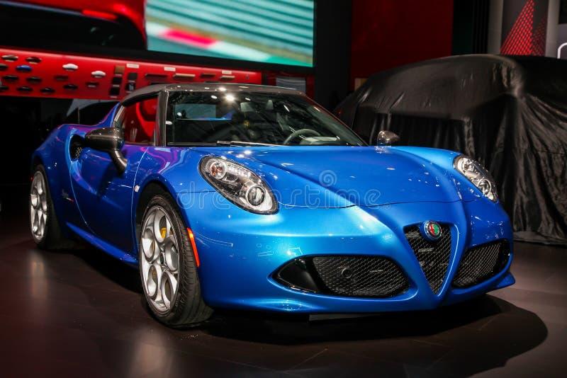 Ragno di Alfa Romeo 4C fotografie stock libere da diritti