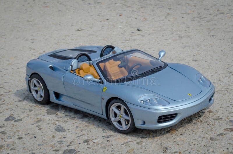 Ragno di Ferrari 360 dal modello italiano dell'elite di HotWheels di 1:18 di film di lavoro fotografia stock libera da diritti