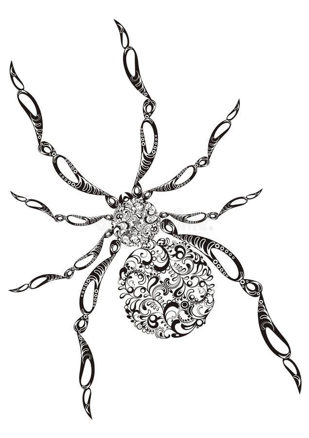 Ragno ornamentale royalty illustrazione gratis