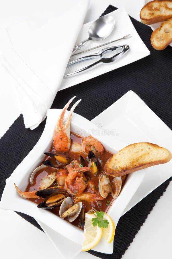 Ragoût de fruits de mer photographie stock