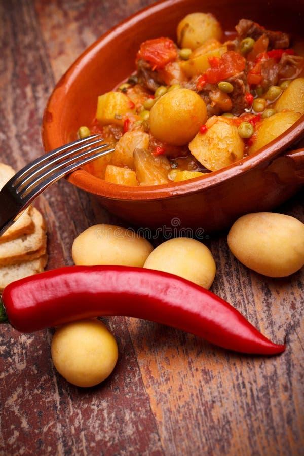 Ragoût et légumes de pays photo stock