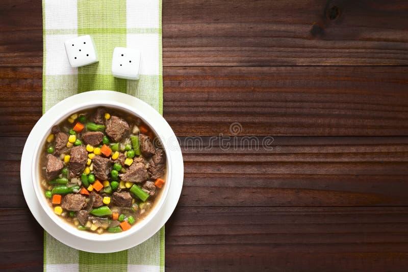 Ragoût ou soupe de boeuf photo libre de droits