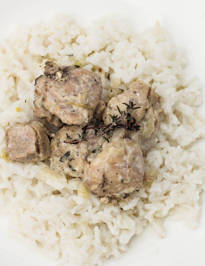 Ragoût avec du riz image libre de droits