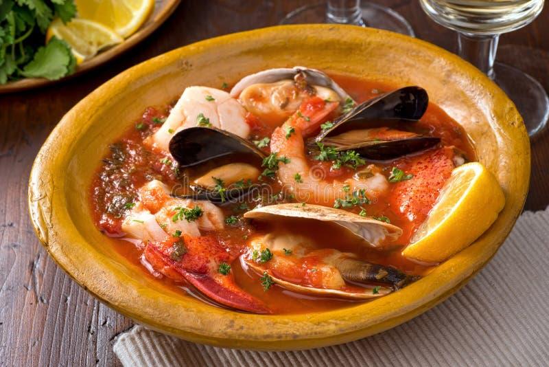 Ragoût de fruits de mer images stock