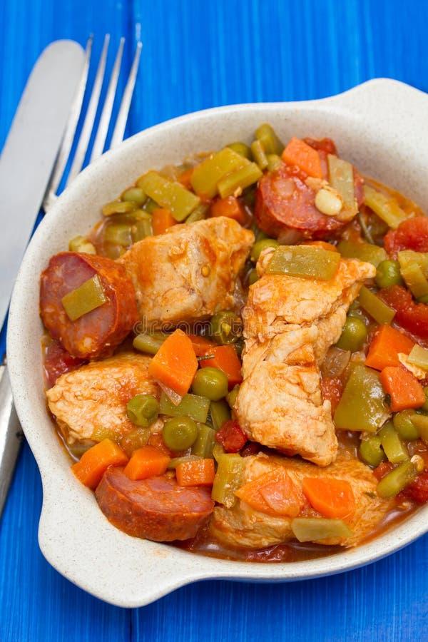 Ragoût de poulet avec des légumes image libre de droits