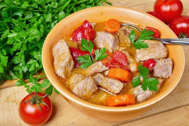 Ragoût de viande et de légume photo libre de droits