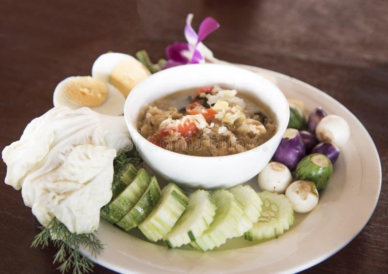 Ragoût thaïlandais de crabe de nourriture, nourriture thaïlandaise photo stock
