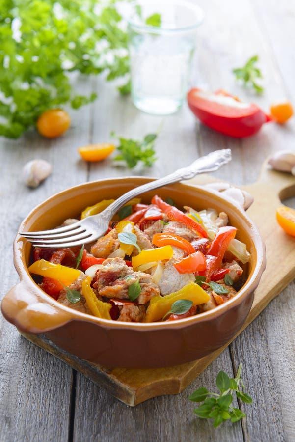 Ragu från kalkon och tomaten royaltyfri fotografi
