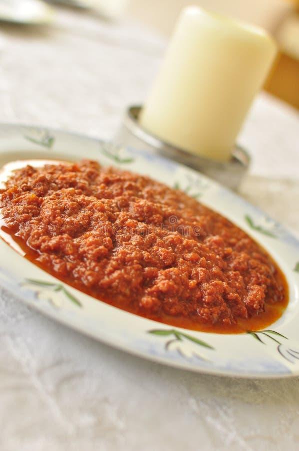 Ragu italiensk pastasås arkivbilder