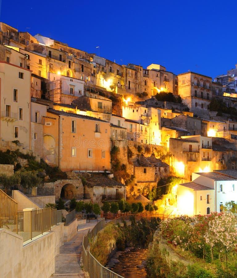 Free Ragusa City At Night Stock Photography - 10732732