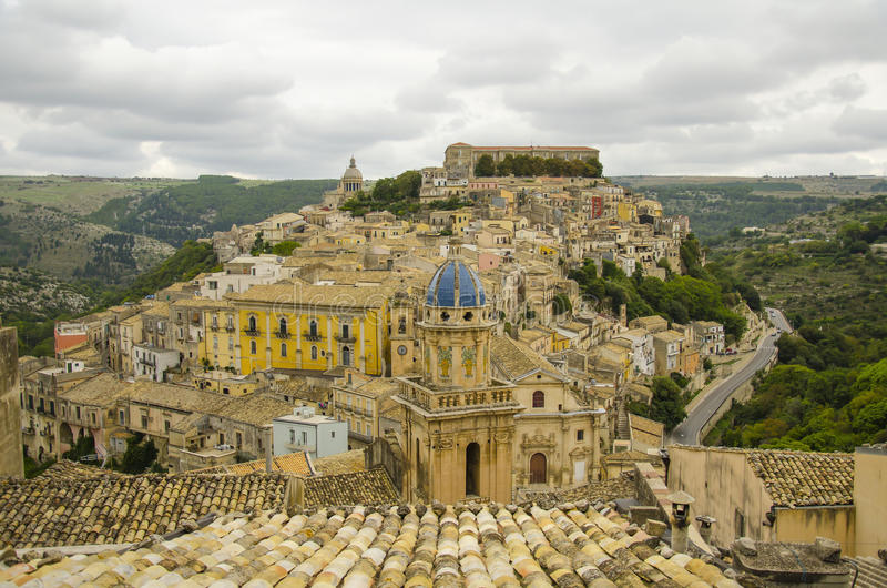 Ragusa Ibla cityscape royalty free stock photography