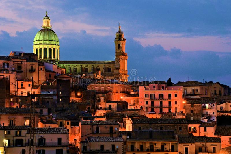 Ragusa ibla sicily royalty free stock photos
