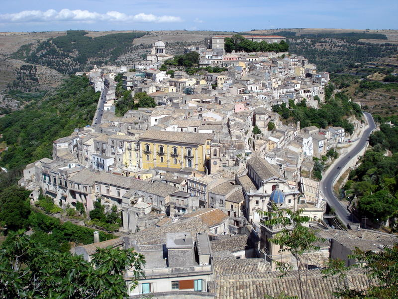 Ragusa Ibla, Sicily stock photography