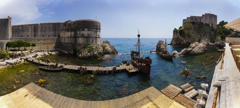 Ragusa - la perla della costa adriatica immagine stock