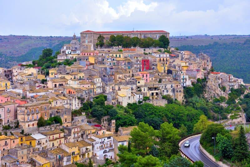 Ragusa Sicilien Italien royaltyfria foton