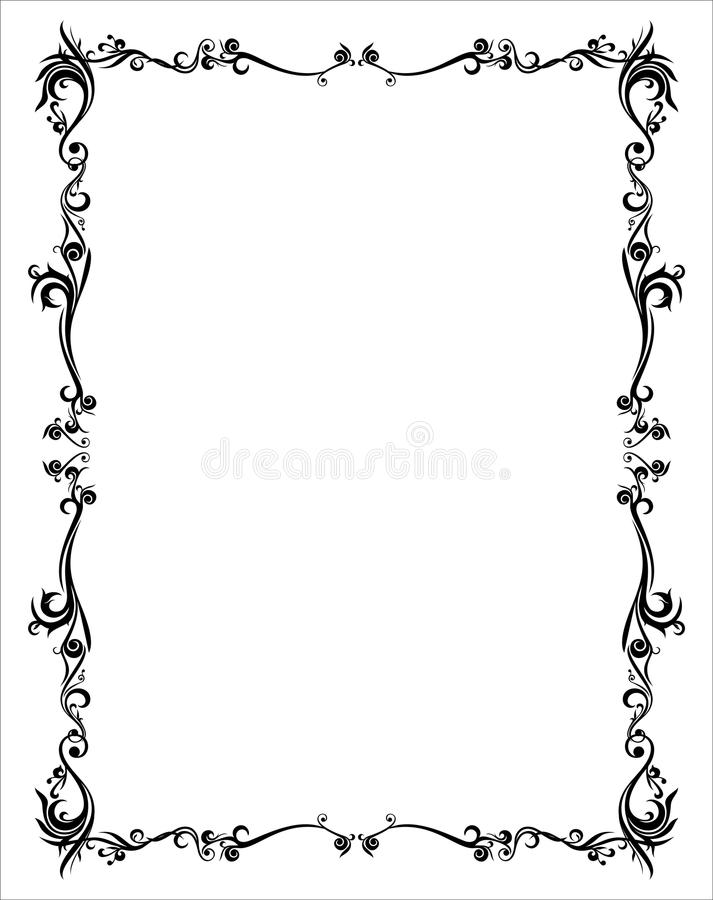 Rahmen-abstrakter Batik-Yogyakarta-schwarzes grundlegendes stockfoto