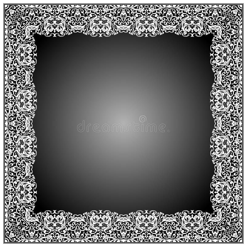 Rahmen-Batik mit Blumen und Strudel-Formen stockfotos
