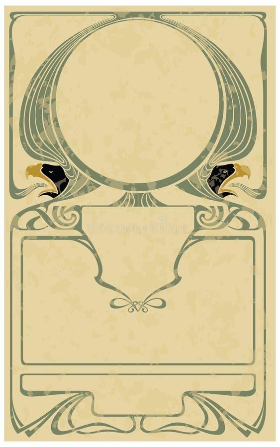 Rahmen in der Art Kunst-nouveau stock abbildung