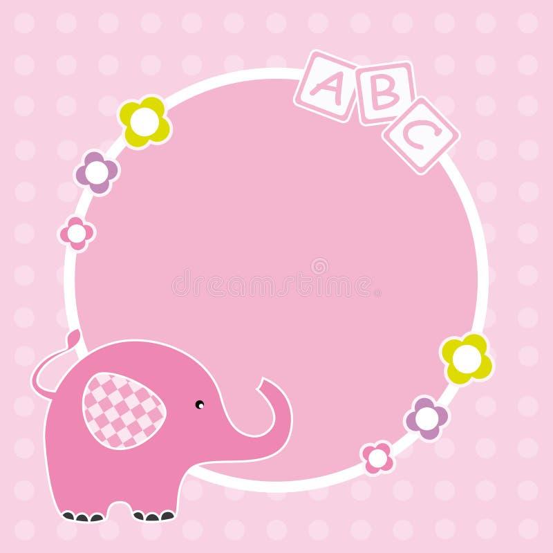 Rahmen des rosafarbenen Elefanten vektor abbildung