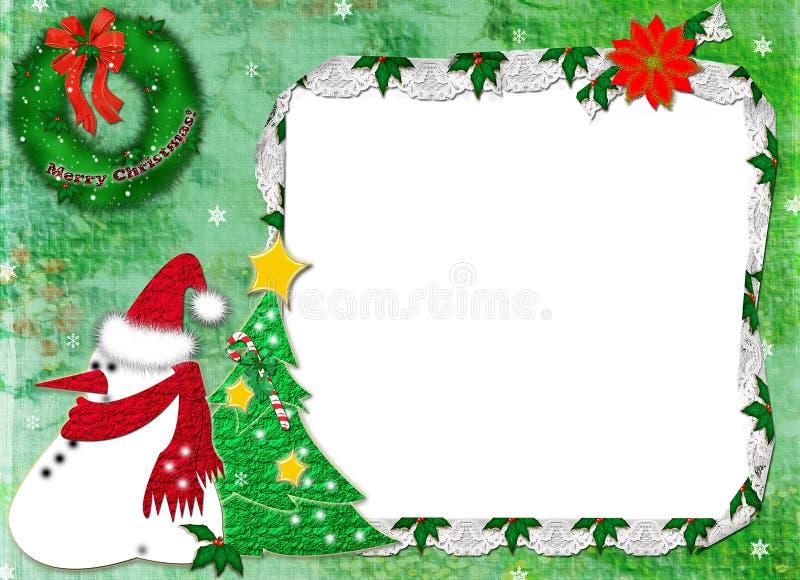 rahmen f r ein foto f r weihnachten stock abbildung. Black Bedroom Furniture Sets. Home Design Ideas