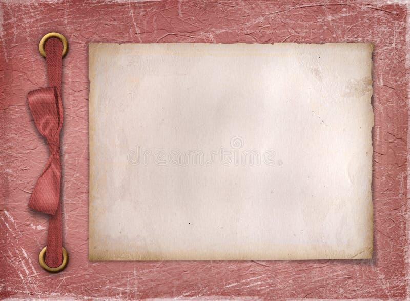 Rahmen für ein Foto oder Einladungen. lizenzfreie abbildung