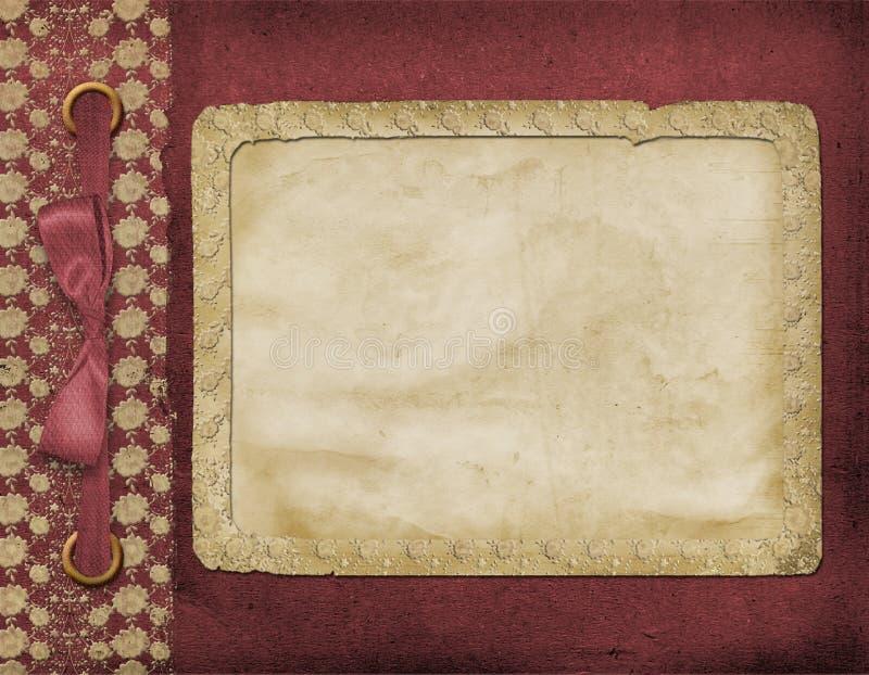 Rahmen für ein Foto oder Einladungen. stock abbildung