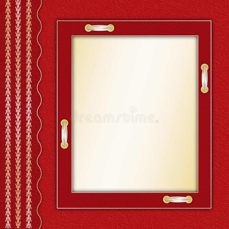 Rahmen für ein Foto oder Einladungen stock abbildung