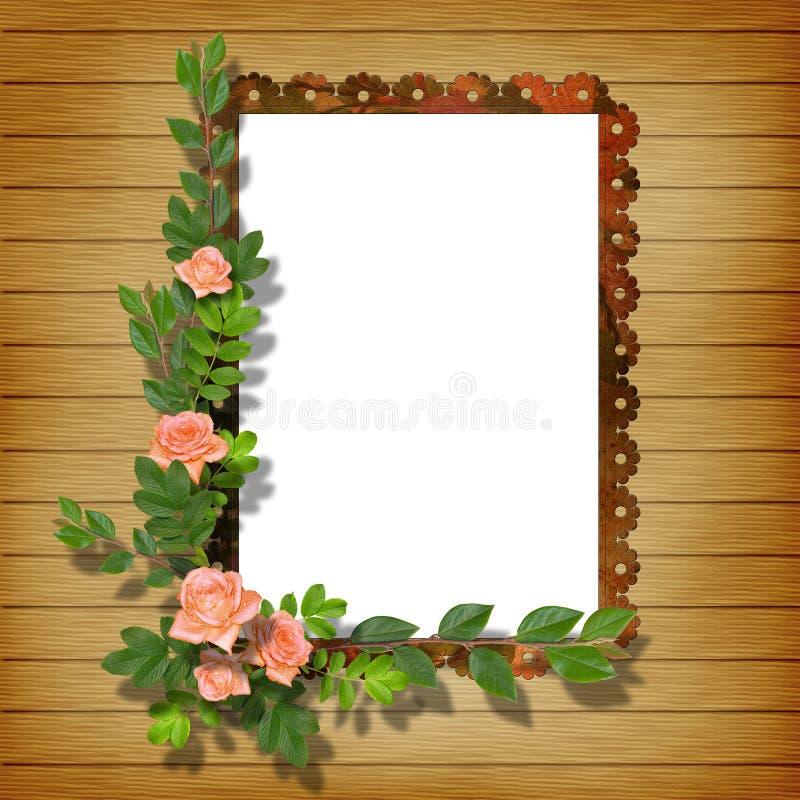 Rahmen für Foto lizenzfreie abbildung