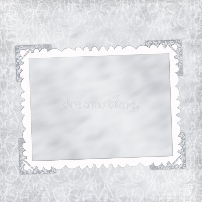 Rahmen für Foto oder Einladung lizenzfreie abbildung